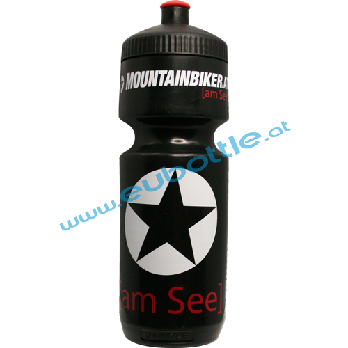 EU Bottle BigMouth 750ml black - Mountainbiker am See