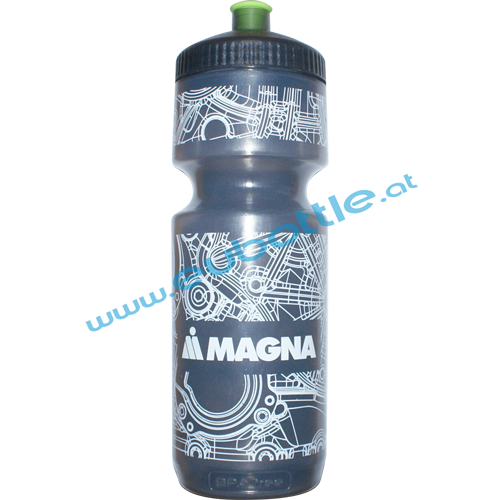 EU Bottle BigMouth 750ml clear-black - Magna