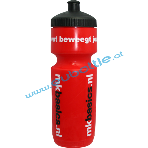 EU Bottle BigMouth 750ml red - MK Basics