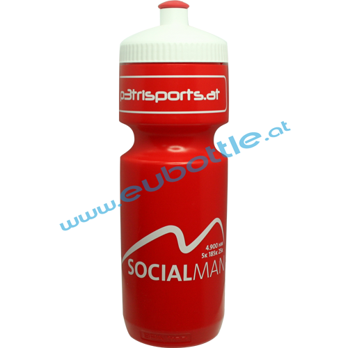 EU Bottle BigMouth 750ml red - P3 Trisports