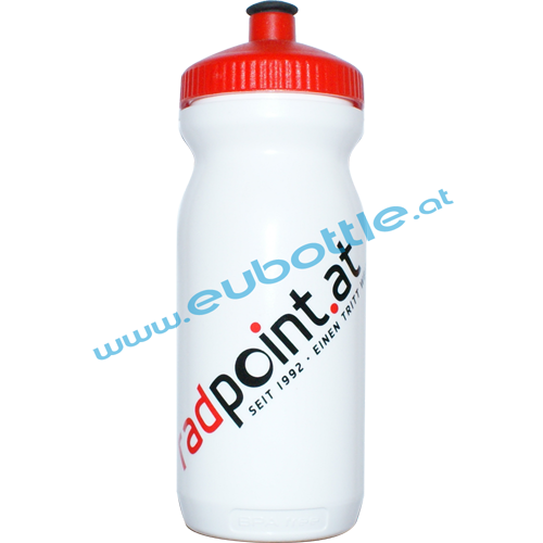 EU Bottle BigMouth 600ml white - Radpoint