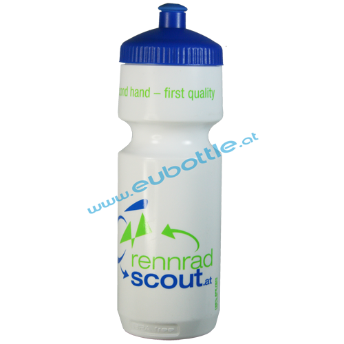 EU Bottle BigMouth 750ml white - Rennrad Scout