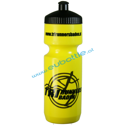 EU Bottle BigMouth 750ml yellow - TriRunners Baden