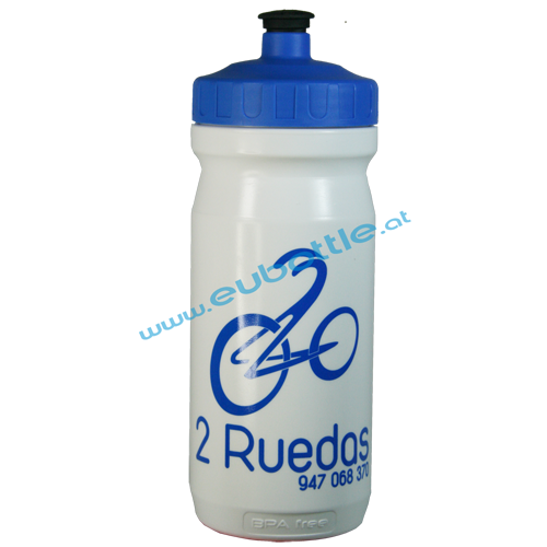 EU Bottle MAX 600ml white - 2 Ruedas